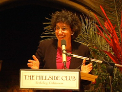 Jodi Halpern speaking at the Hillside Club, Berkeley, CA